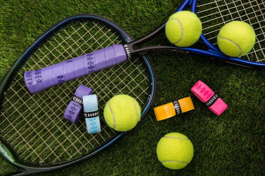 Raquex grips on tennis racquets