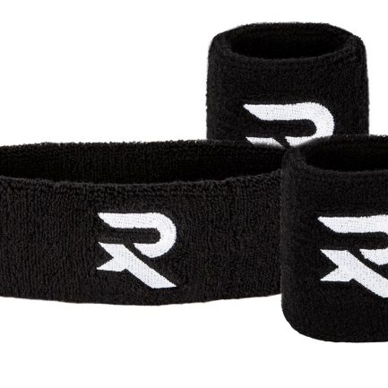 Raquex headband and wristband set black