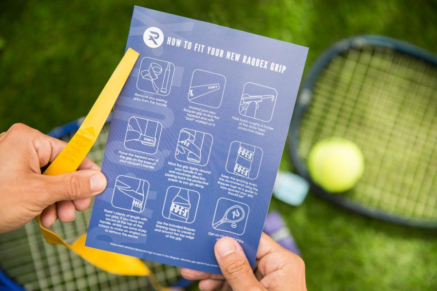 How to fit a racquet grip