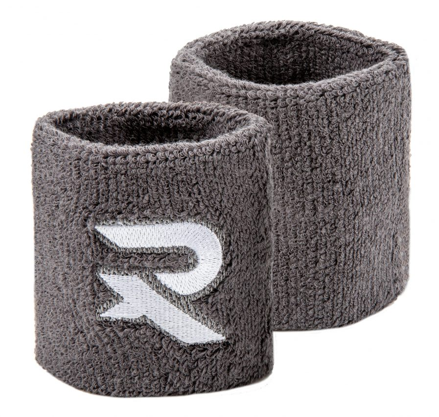 grey sweat wristbands